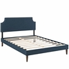 Corene Queen Fabric Platform Bed with Squared Tapered Legs
