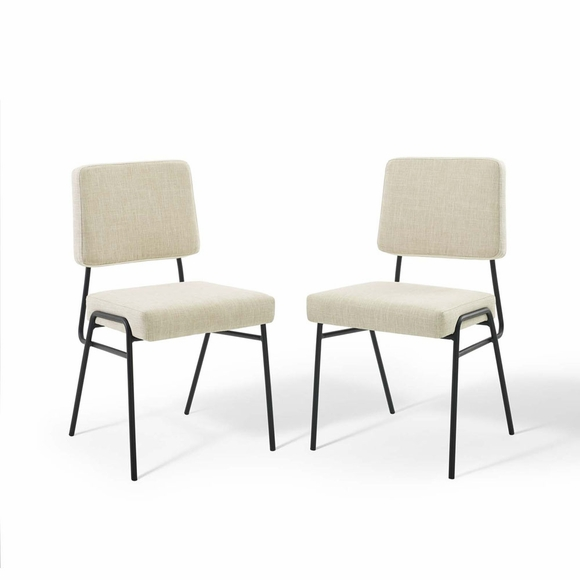 Craft Dining Side Chair Upholstered Fabric Set of 2