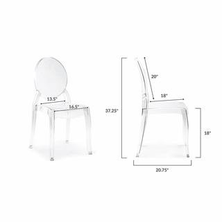 Astounding Criss Dining Side Chair In Clear Set Of 4 Modern In Designs Uwap Interior Chair Design Uwaporg