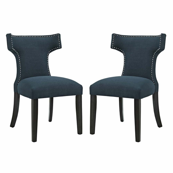 Curve Dining Side Chair Fabric Set of 2