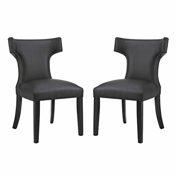 Curve Dining Side Chair Vinyl Set of 2