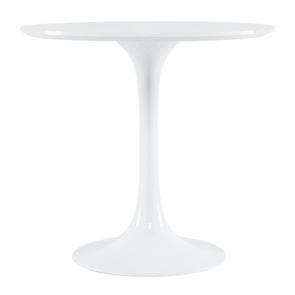 "Daisy 30"" Round Wood Top Dining Table in White"