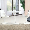 "Daisy 36"" Fiberglass Dining Table in White"