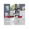 """Daisy 36"""" Wood Top Dining Table in White"""