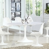 """Daisy 60"""" Oval Artificial Marble Dining Table in White"""