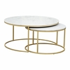 Daniel Nesting Coffee Table Brass
