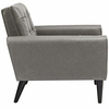 Delve 2 Piece Upholstered Vinyl Sofa and Armchair Set