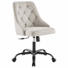 Distinct Tufted Swivel Upholstered Office Chair