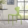 Draw Dining Side Chair in Green