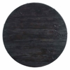 """Drive 28"""" Round Wood Top Dining Table in Black Gold"""