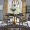 "Drive 60"" Oval Wood Top Dining Table in Black Gold"