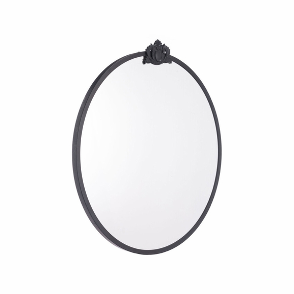 Empire Round Mirror in Black