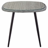 Endeavor 36inch Outdoor Patio Wicker Rattan Dining Table in Gray