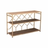 Equis Console Table in Brown