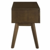 Everly Wood Nightstand in Walnut