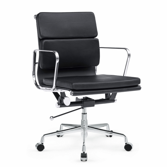 Soft Conference Office Chair Mid Back - Black