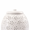 Floral Covered Jar in White