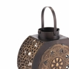 Flores Small Lantern in Black & Gold