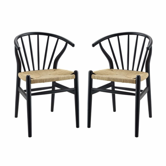 Flourish Spindle Wood Dining Side Chair Set of 2