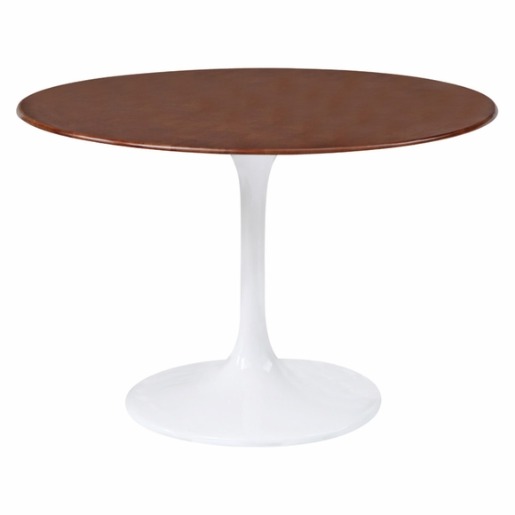 Flower Table Wood Top 48 Inch in Walnut