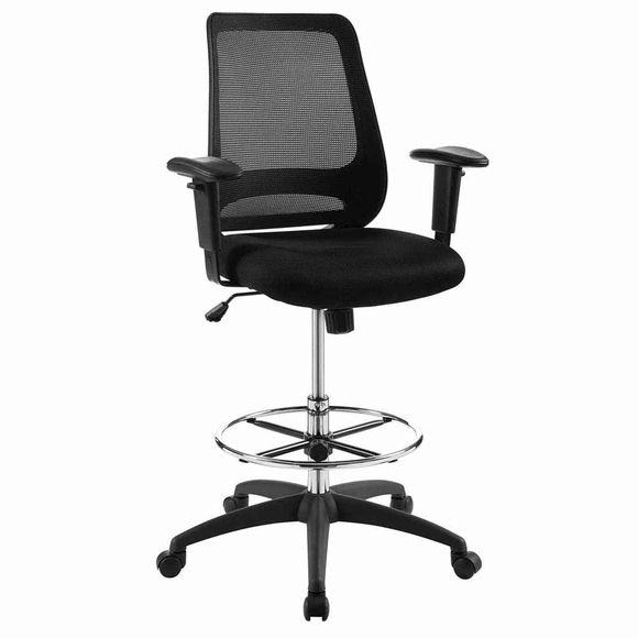 Forge Mesh Drafting Chair in Black