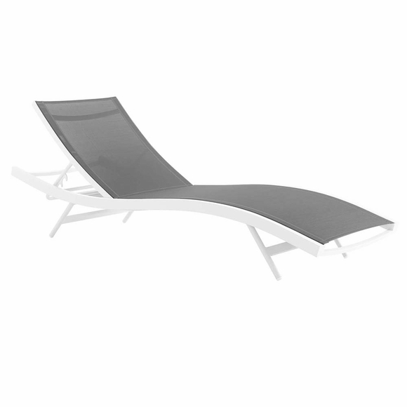 Glimpse Outdoor Patio Mesh Chaise Lounge Chair Modern In