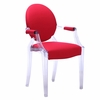 Gus Arm Chair in Clear in Set of 2 Chairs
