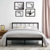 Gwen Queen Metal Bed Frame in Brown