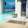 Harmony Outdoor Patio Aluminum Coffee Table in White