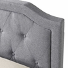 Harrington Tufted Queen size Bed in Gray