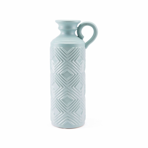 Herringbone Large Bottle in Blue