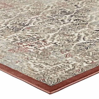 Hester Ornate Turkish 8x10 Vintage Area Rug In Tan And Walnut Brown Modern In Designs