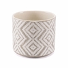 Indio Planter Large in White & Gray