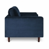 "Inga 72"" Apartment Sofa with Velvet in Space Blue"