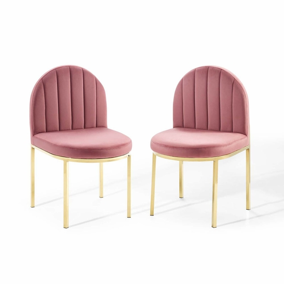 Isla Dining Side Chair Performance Velvet Set of 2
