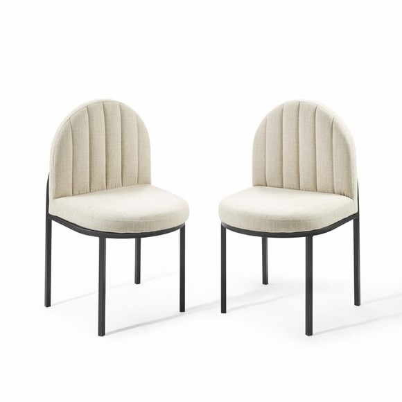 Isla Dining Side Chair Upholstered Fabric Set of 2