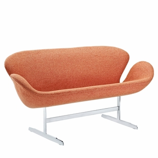 Arne Jacobsen Swan Sofa Couch, Two Loveseat - Modern In Designs
