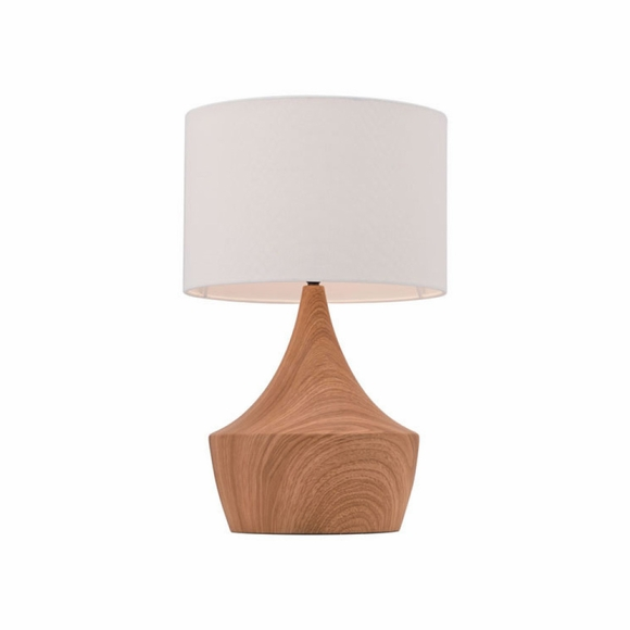 Kelly Table Lamp in White & Brown