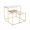Labels End Table in Gold