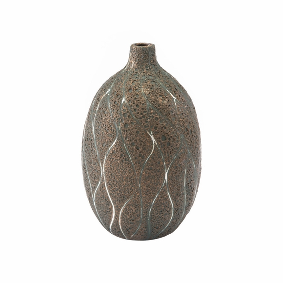 Lava Medium Vase in Brown & Green