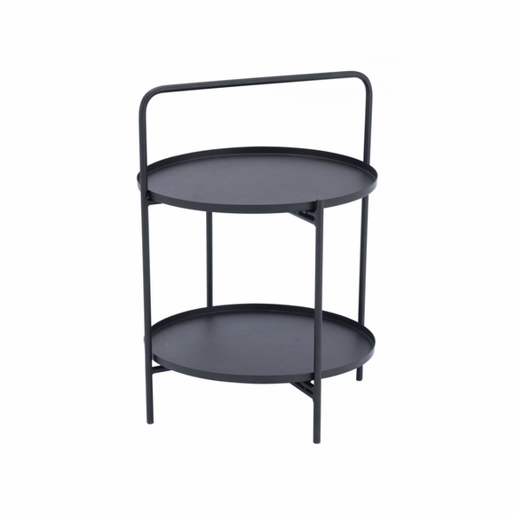 Leve End Table in Black