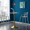 Lippa 28inch Bar Table in Gold White MID-3262
