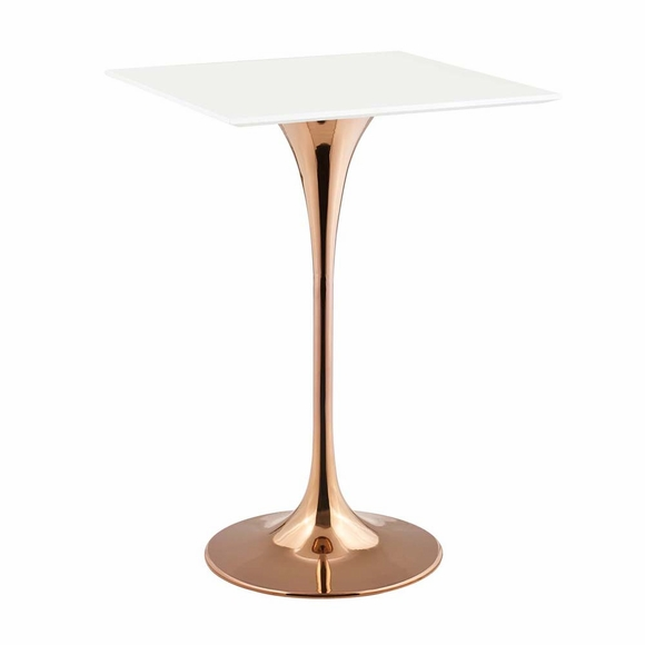Lippa 28inch Square Bar Table in Rose White