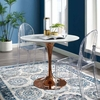 Lippa 36inch Round Dining Table in Rose White MID-3218