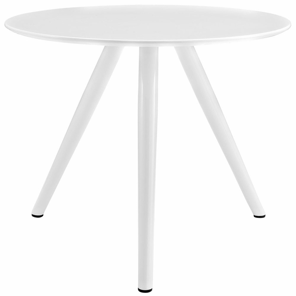 Lippa 36inch Round Wood Top Dining Table with Tripod Base in White