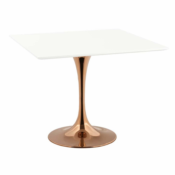 Lippa 36inch Square Dining Table in Rose White