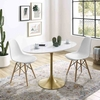 Lippa 48inch Oval Dining Table in Gold White MID-3215