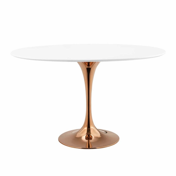 Lippa 48inch Oval Dining Table in Rose White MID-3224