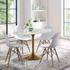 Lippa 54inch Oval Dining Table in Gold White
