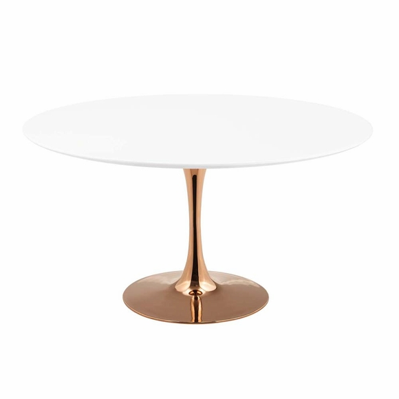 Lippa 54inch Round Dining Table in Rose White MID-3239